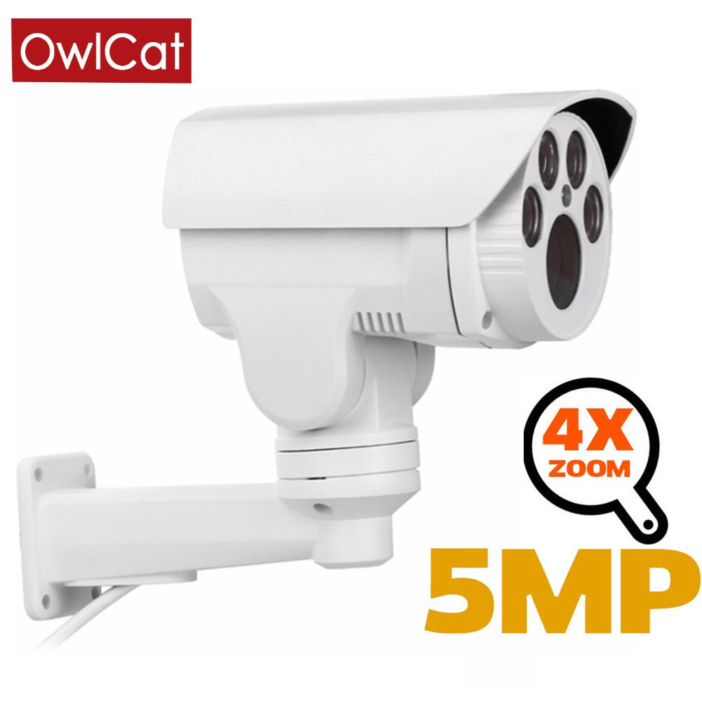 OwlCat IP Camera PTZ Rotating 2MP 5MP Outdoor Waterproof 4X 10X Optical Zoom IR 40-60m Night Vision Security Video Surveillance image
