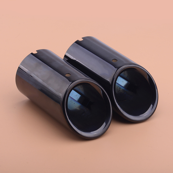 Stainless Steel 2pcs Titanium Black Muffler Exhaust Tail Pipe Tip Fit For BMW 3 Series E90 E92 325i 328i image