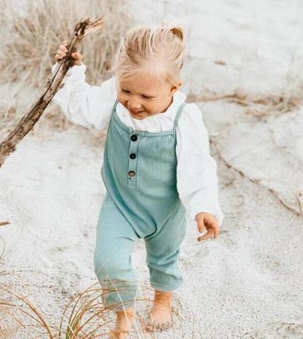 dojhonkids listra macacao do bebe da crianca menina de uma peca macacao botoes moda pant