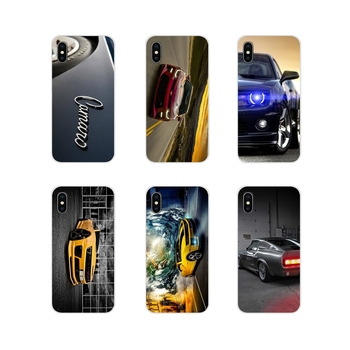 Para Apple iPhone X XR XS MAX 4 4S 5 5S 5C SE 6 6S 7 7 Plus ipod touch 5 6 transparente TPU cubierta de la cáscara de Chevrolet Camaro Super Coche