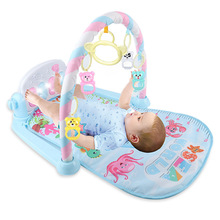 Rocking Chair Newborn Baby Fitness Bodybuilding Frame Pedal Piano Music Carpet Rocking Chair Activity Kick Play Education Toy cute baby play mat fitness bodybuilding frame pedal piano music carpet blanket activity gym kick play lay sit toy for newborns