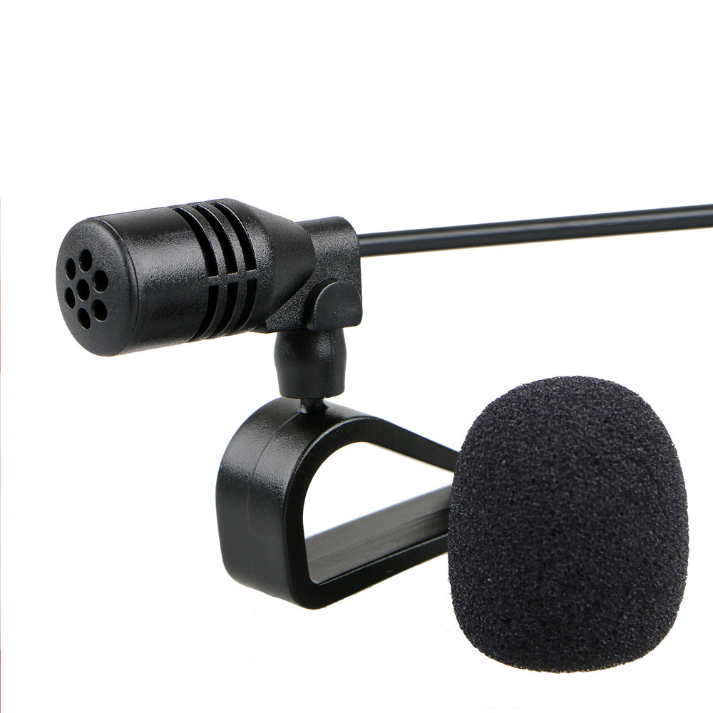 3.5mm Microphone External Mic for Car Stereo GPS Bluetooth Enabled Audio DVD 3m Wire 1-10V DC hand free car kit Micro-phone