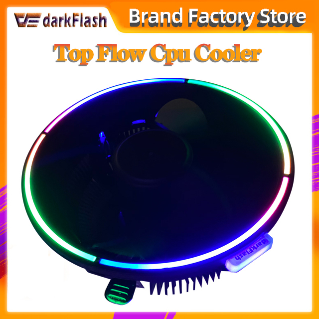 Чехол для компьютера darkFlash Aigo кулер для процессора Алюминиевый 12 В кулер для процессора охлаждающий вентилятор для Intel AM2/AM3/AM4