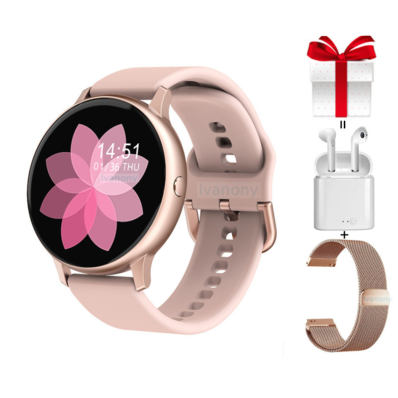 Smart Watch DT88 Pro+Strap+Earphone Full Touch Smartwatch Women Blood Pressure Oxygen For Samsuang Huawei Xiaomi Phone VS SG2