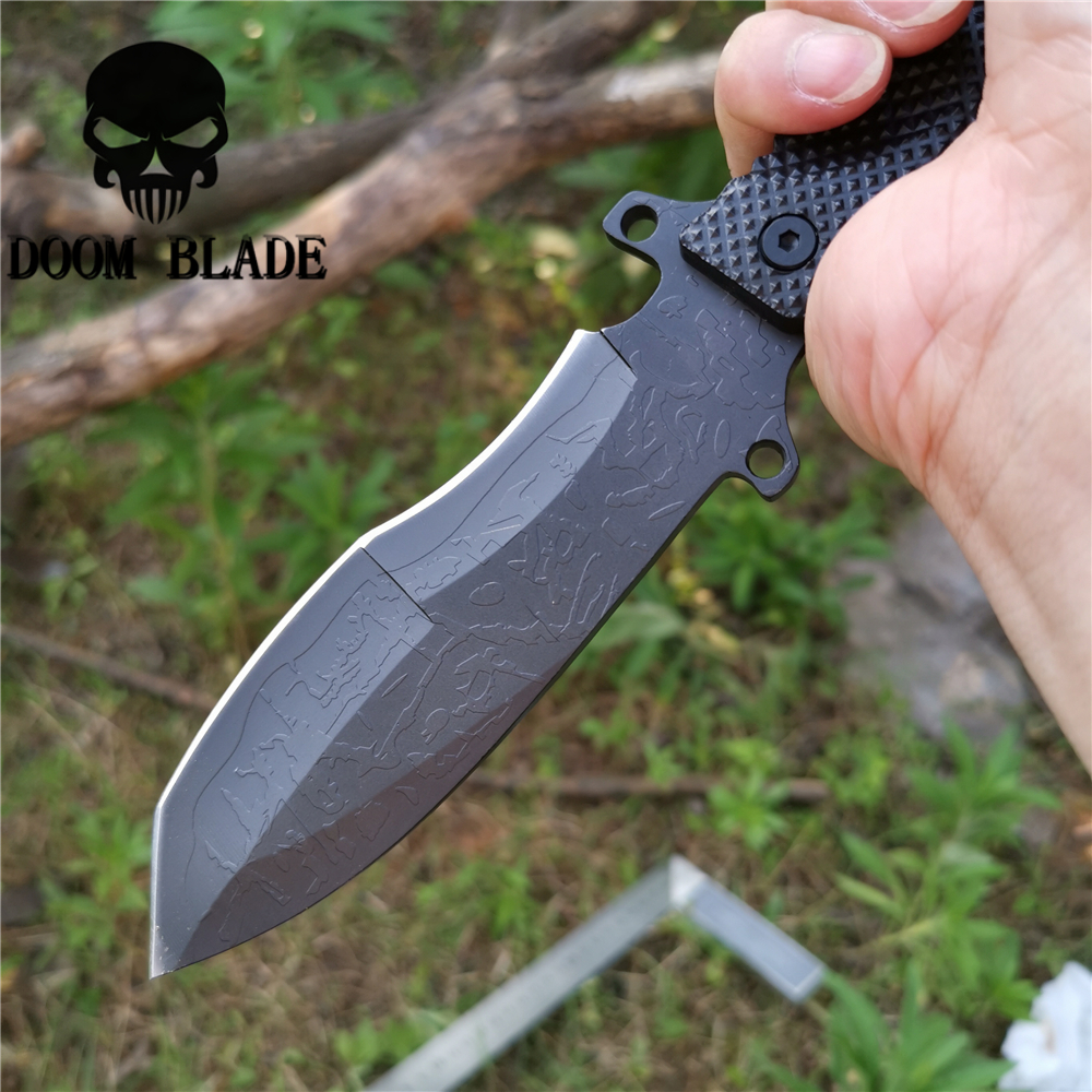 Image 4 - MILITARY Tactical Fixed Blade Knife 8CR13MOV 57HRC Fishing Knives Good for Hunting Camping Survival Outdoor and Everyday CarryKnives   -