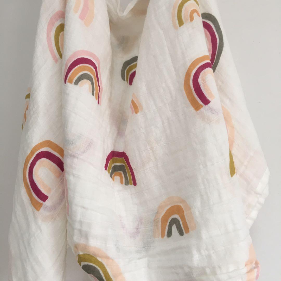 Детское Хлопковое одеяло, пеленка для новорожденных, муслиновый подгузник, полотенце, 120 х110 см 4