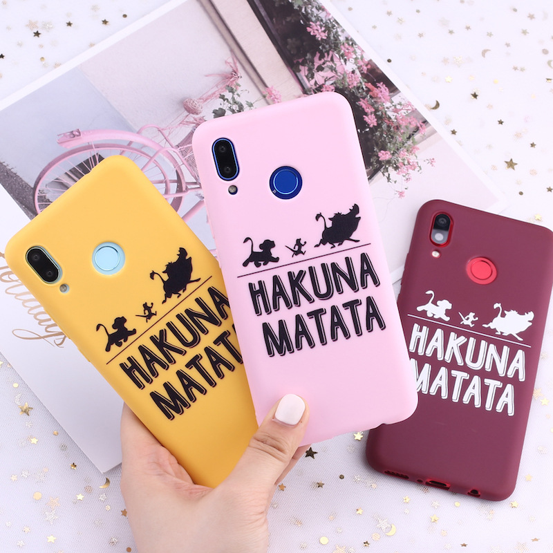 For <font><b>Xiaomi</b></font> Redmi Note 5 6 7 8 9 lite Pro Plus 6A 7A A3 Hakuna Matata Lion King Candy <font><b>Silicone</b></font> Phone Case Cover <font><b>Capa</b></font> Fundas Coque image