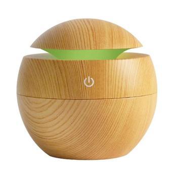 USB 130ml Small Mushroom Wood Aromatherapy Humidifier New Household Office Supplies