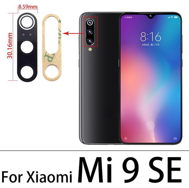 50 unids/lote nueva de la Lente de la cámara con cinta para Xiaomi Mi 9 lite Mi9 Se Replacement
