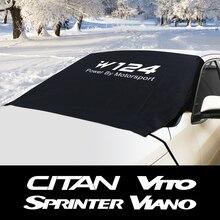 รถกระจกหิมะ Ice Dust Block Sun Shade สำหรับ Mercedes CITAN R V CLASS SPRINTER VIANO VITO W203 W204 w124อุปกรณ์เสริม