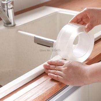 100 sztuk taśma samoprzylepna Kitchen Sink wodoodporna mocna forma przezroczyste wanny toaleta Gap Strip Pool Water Seal tanie i dobre opinie CN (pochodzenie) 10009333 0 300