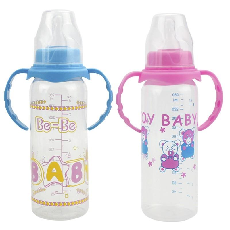 Kids Baby Feeding Bottles Straw Cup Newborn Bottle Sippy Cups Children Learn Drinking Water Straw Training Cup PP Bottles