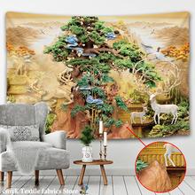 Piękne duża ściana gobelin tanie ściana hipisowska wiszące czeski gobeliny ścienne Mandala na ścianę dekoracja tanie tanio CN (pochodzenie) beautiful with deer pengtusheji piece Pranie ręczne Można prać w pralce Inne LH07001 Zwierząt PRINTED
