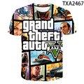 Футболка с 3D-принтом для мужчин и женщин, модная уличная одежда с принтом в стиле игры Grand Theft Auto 4, для мальчиков и девочек, летние топы