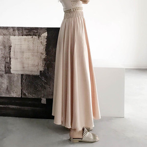 [EAM] High Elastic Waist Brief Long Big Size Wide Leg Trousers New Loose Fit Pants Women Fashion Tide Spring Summer 2020 1W406