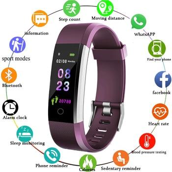 2021 New Smart Bracelet Men Women Smartwatch with Heart Rate Blood Pressure Monitor Fitness Tracker Smart Watch Sport Smartwatch 1