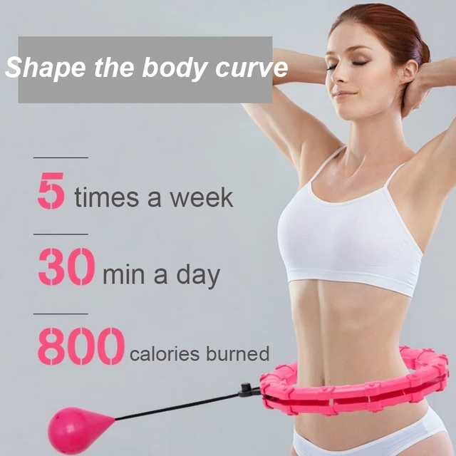 Adjustable Sport Hoops Abdominal Thin Waist Exercise Detachable Massage Fitness Hoops Gym Home Training Weight Loss 6
