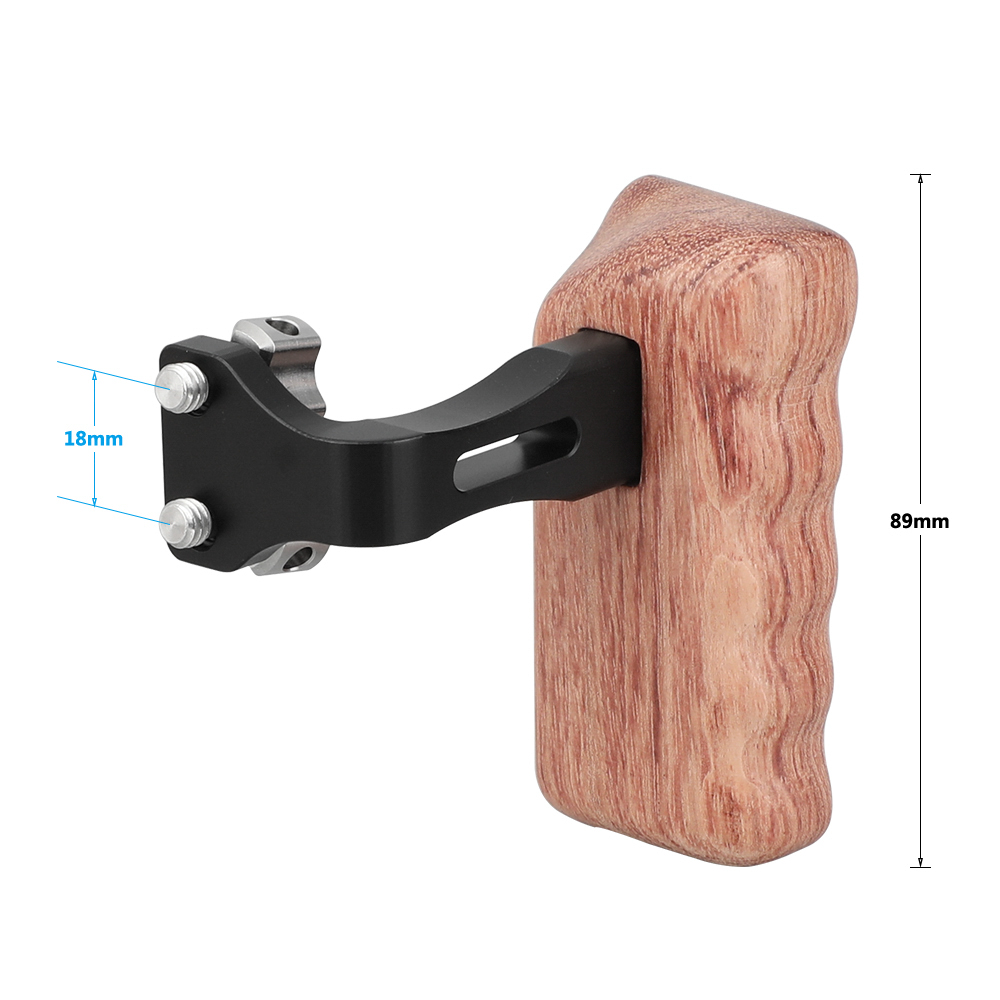 """20 CAMVATE Reversible Wooden Hand Grip Medium Size With 1/4""""-20 Thumbscrew Knob (Left & Right)  C2220 (2)"""