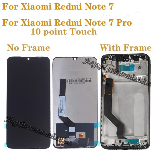 """6.26 """"Originele Lcd Voor Xiaomi Redmi Note 7 Lcd Touch Screen Digitizer Vergadering Voor Redmi Note 7 Pro lcd Met Frame"""