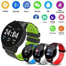 119 Plus Smart Bracelet Heart Rate Smart Watch Man Wristband Sports Wat
