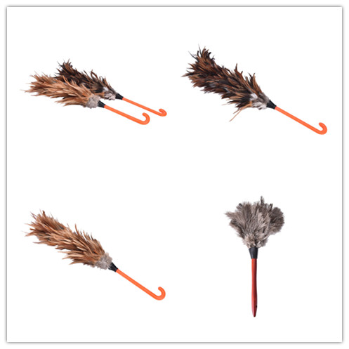 1Pcs Feather Duster Brush Anti Static Natural Fall Wood Handle Household Cleaning Car Fan Furniture Dust Cleaner New