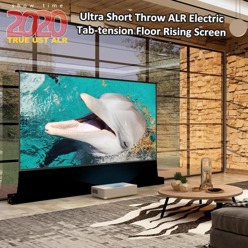 VIVIDSTROM ultracorto Throw Proyector láser pantalla Home Theater proyector 3D/UHD negro vivienda motorizada suelo Rising Screen