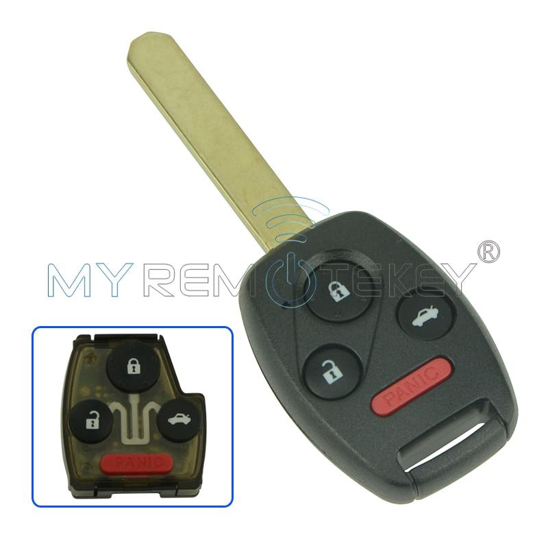 Remtekey chave remota 3 botão com pânico para honda chave OUCG8D-380H-A 313.8 Mhz ID46 para Honda Accord 2003 2004 2005 2006 2007