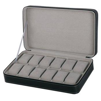 Wielu siatki skórzane z włókna węglowego pudełko na zegarek winder pudełko na zegarki okulary organizator kolczyki pierścionki biżuteria wyświetlacz uchwyt tanie i dobre opinie GENBOLI CN (pochodzenie) Moda casual 30cm Nowy bez tagów Watch Display Box Storage Rectangle 20cm Sztucznej skóry Skóra