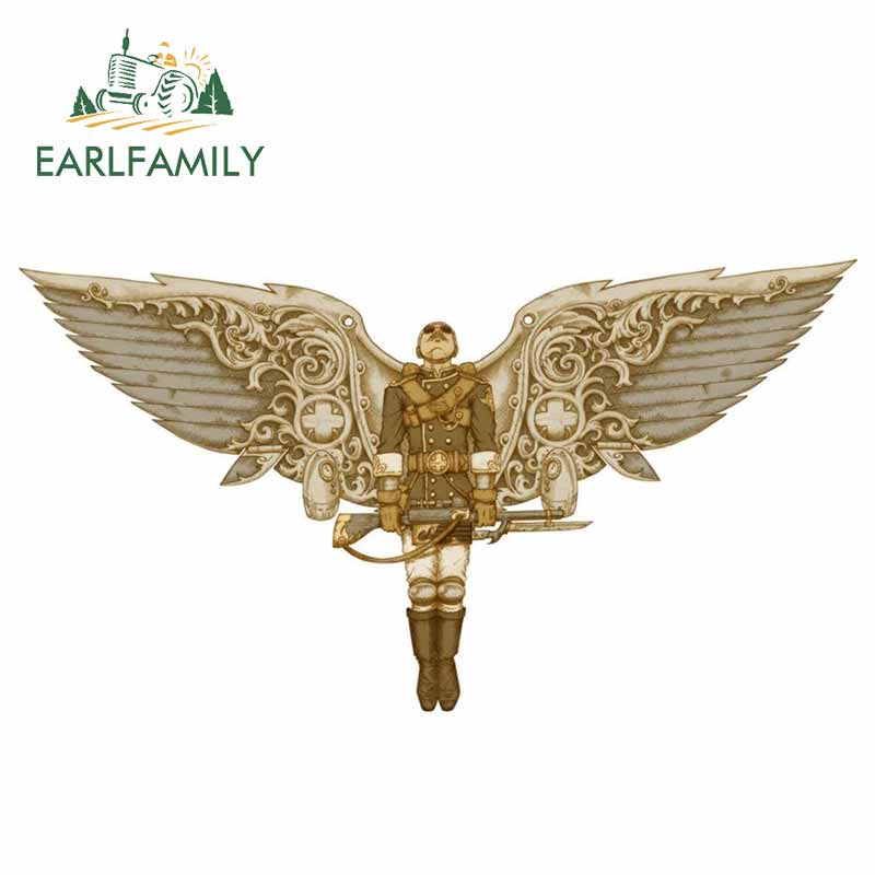 EARLFAMILY 13cm <font><b>x</b></font> 7cm for Steampunk Peregrine Vinyl Car <font><b>Stickers</b></font> Laptop <font><b>Motorcycle</b></font> Scratch-proof Waterproof Decal Decoration image
