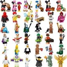 Legoing друзья Статуя Свободы банан Гай Микки Минни Пингвин Кролик морковь Пасхальные строительные блоки игрушки Legoings 71013 8831
