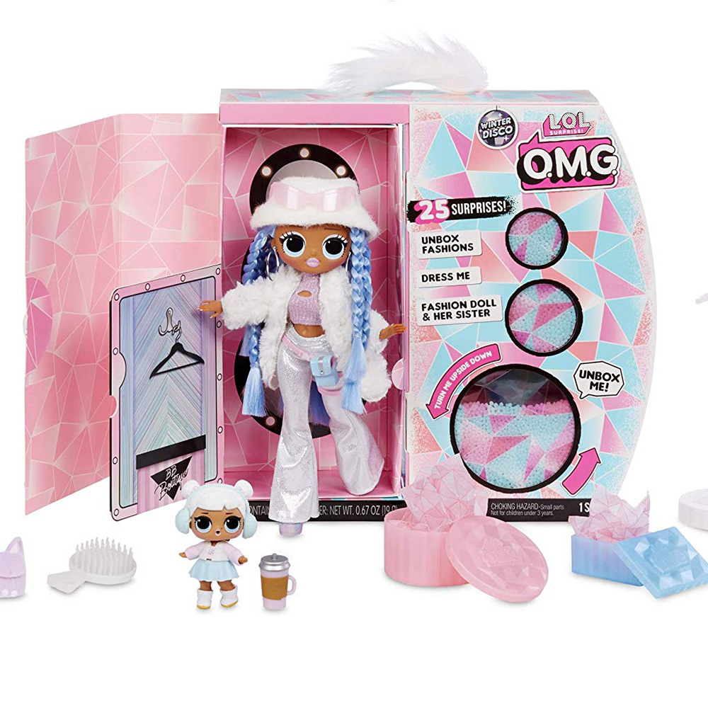 L.O.L Surprise! O.M.G. Winter Disco Snowlicious Fashion Doll & Sister LOL Doll For Kids Toy