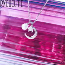New Boho Jewelry Silver Color Moon Necklaces Pendants For Wo