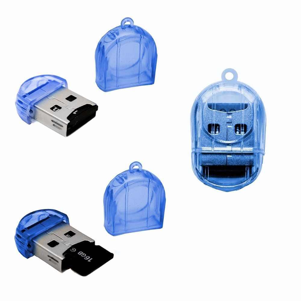 10 قطعة صغيرة USB 2.0 TF نانو مايكرو SD SDHC SDXC قارئ بطاقات الذاكرة الكاتب USB فلاش محرك الذاكرة قارئ بطاقات s VHE53 P40