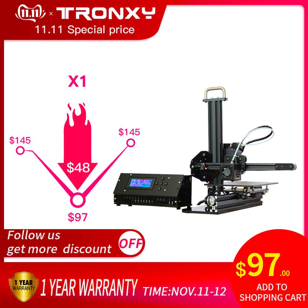 Tronxy x1 impressora 3d i3 imprimora polia versão guia linear impressora impressora 3d diy dois bocal como um presente