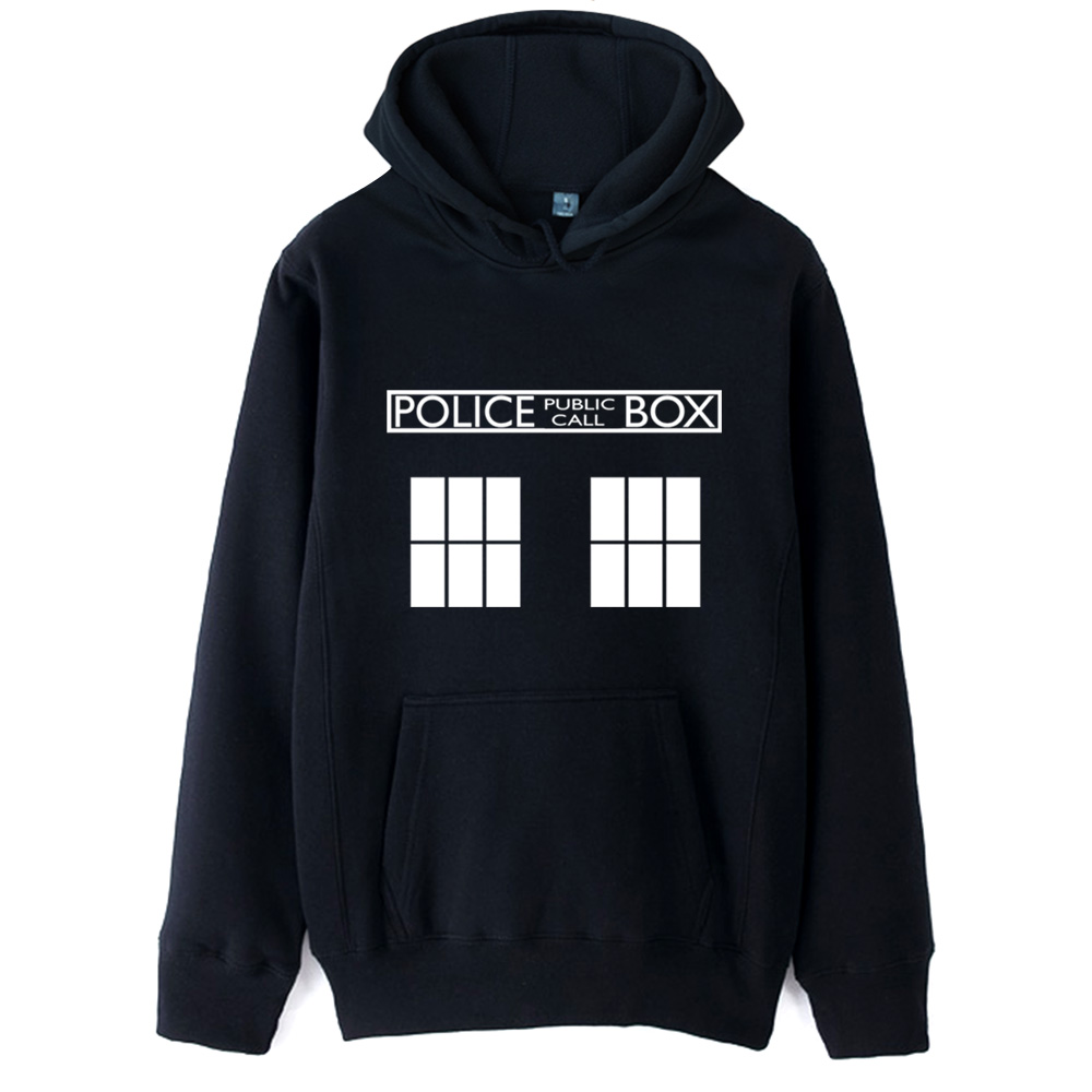 Bad Wolf TARDIS Doctor Who police box Man Boy Hoodie Autumn Winter Fleece Couple Clothes ZIIART
