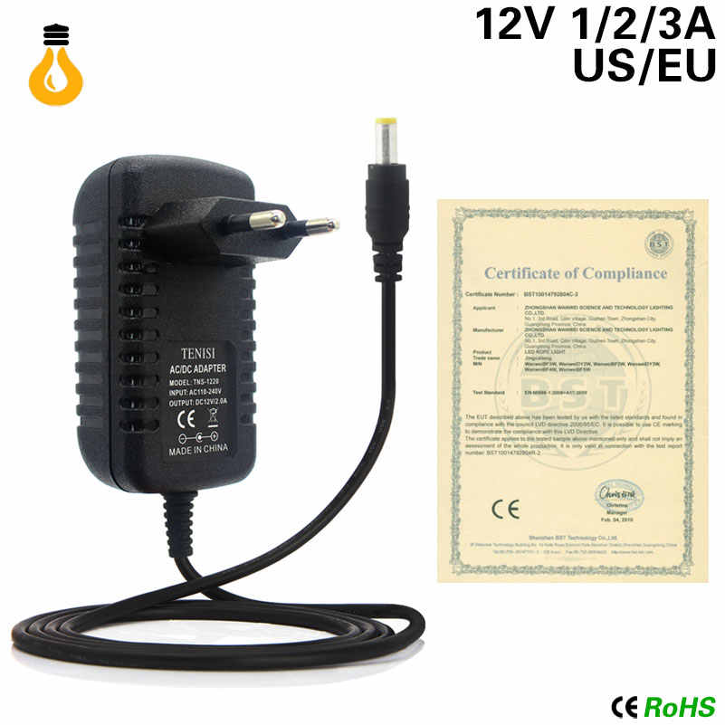 Đa Năng EU Mỹ Cắm Chuyển Đổi Adapter AC 220V-240V Ra 12 V Volt Nguồn Cấp DC 12 V 1A 2A 3A Bộ Chuyển Đổi Nguồn Điện