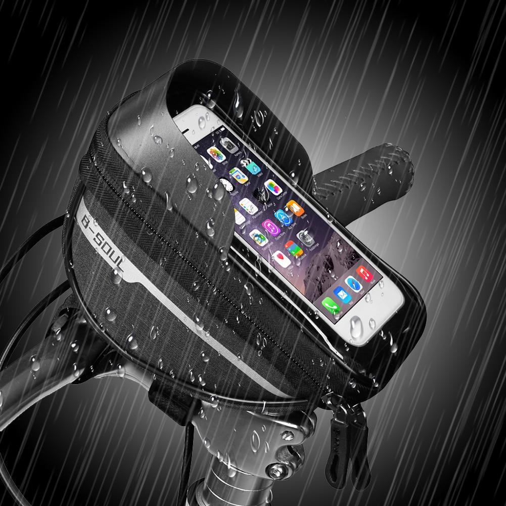 Sac de vélo Vélo Support Pour Téléphone VTT Sac Étanche Téléphone Portable à Écran Tactile Support Étanche Portable Intelligent bolsa bicicleta