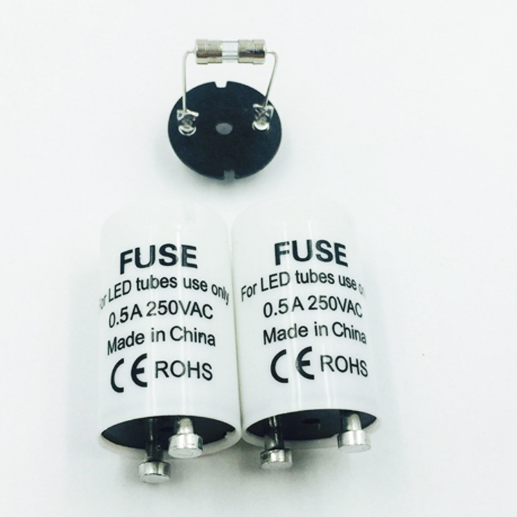 10pcs/lot LED Starter Only Use LED Tube Protection 0.5A 4-30W Tube Inductance Ballast Remove Fuse Starter
