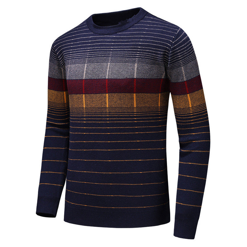 New Fashion Men Luxury Winter Full Of Striped Embroidered Casual Sweaters Pullover Asian Plug Size High Quality Drake #E2