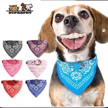 SUPREPET Cute Adjustable Small Dog Collars Puppy Pet Slobber Towel Outdoor Cat Collar Print Scarf  Design Dog Collar Neckerchief