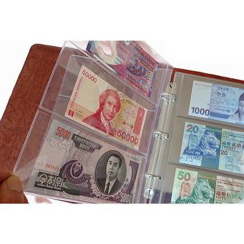 1 strony albumu 3 kieszenie pieniądze uwaga rachunku klaser na banknoty kolekcja pcv 180x80mm tanie i dobre opinie OOTDTY CN (pochodzenie) Nowoczesne Rectangle 20212021