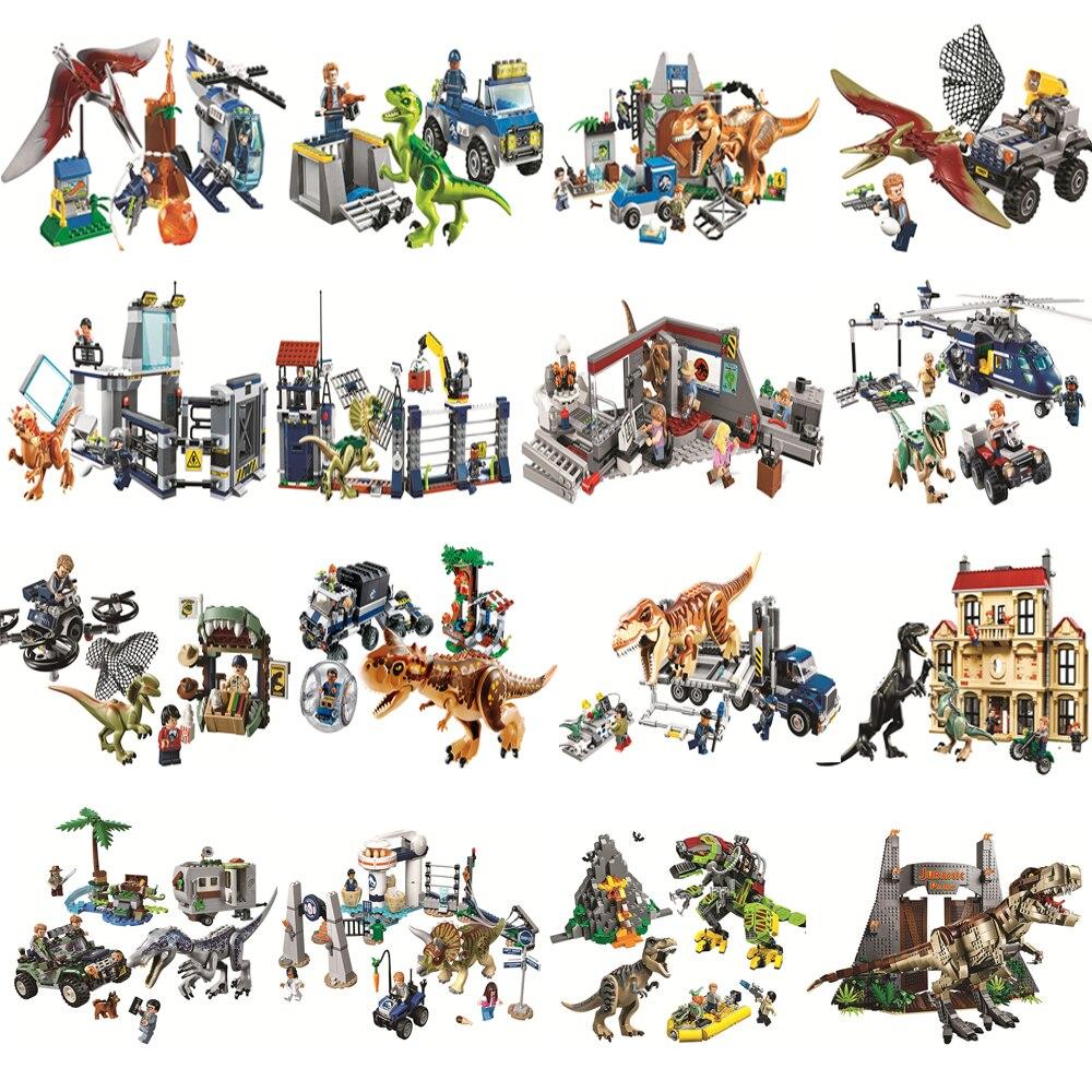 Строительный блок World Park Rex Pterosauria, тираннозавр, трицератопс, бег, совместимый с Lepinblocks, динозавр, детские игрушки