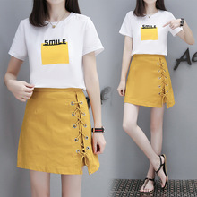 Korean Style Set Hip Skirts Irregular Micro Mini Skirt Mini Skirt Summer Fashion Saia High Waist Faldas Mujer Two-Piece Set