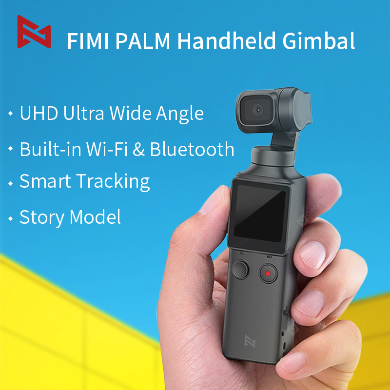 PRE-ORDER FIMI PALM 3-Axis 4K Pocket Handheld Gimbal Camera HD Ultra Wide Angle Stabilizer Smart Track Built-in Wi-Fi control image
