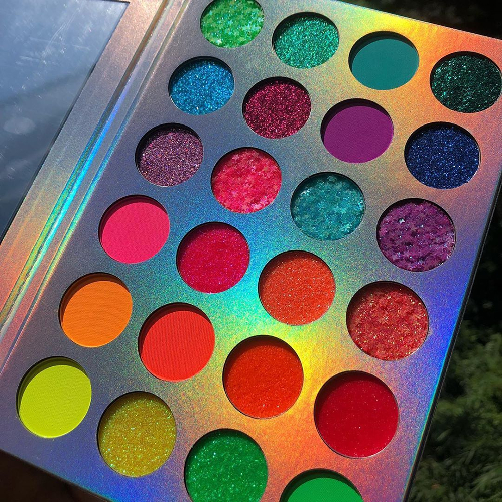 24 Colors Glow Neon Eyeshadow Palette Matte Glitter Shimmer Glow In The Dark Fluorescent Eye Shadows Makeup Smoky Party Makeup