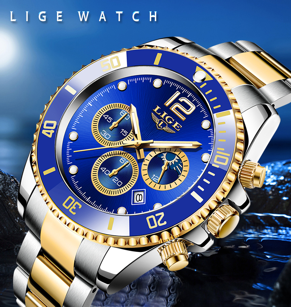 mergulhador relógio masculino à prova dwaterproof água