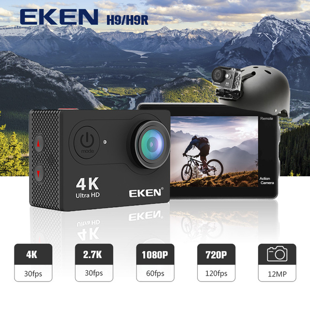 "EKEN H9R / H9 Action Camera Ultra HD 4K / 30fps WiFi 2.0"" 170D Underwater Waterproof Helmet Video Recording Cameras Sport Cam 1"