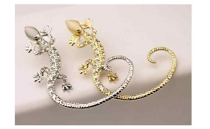 Coreano Esagerato Bijoux Lucertola Orecchini con perno Per Le Donne Gecko Orecchini di Strass Orecchini Gioelleria raffinata e alla moda Brincos Oorbellen