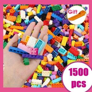1500 pcs Pieces Building Blocks City DIY Creative Bricks Bulk Model Figures Educational Kids Toys Compatible All Brands