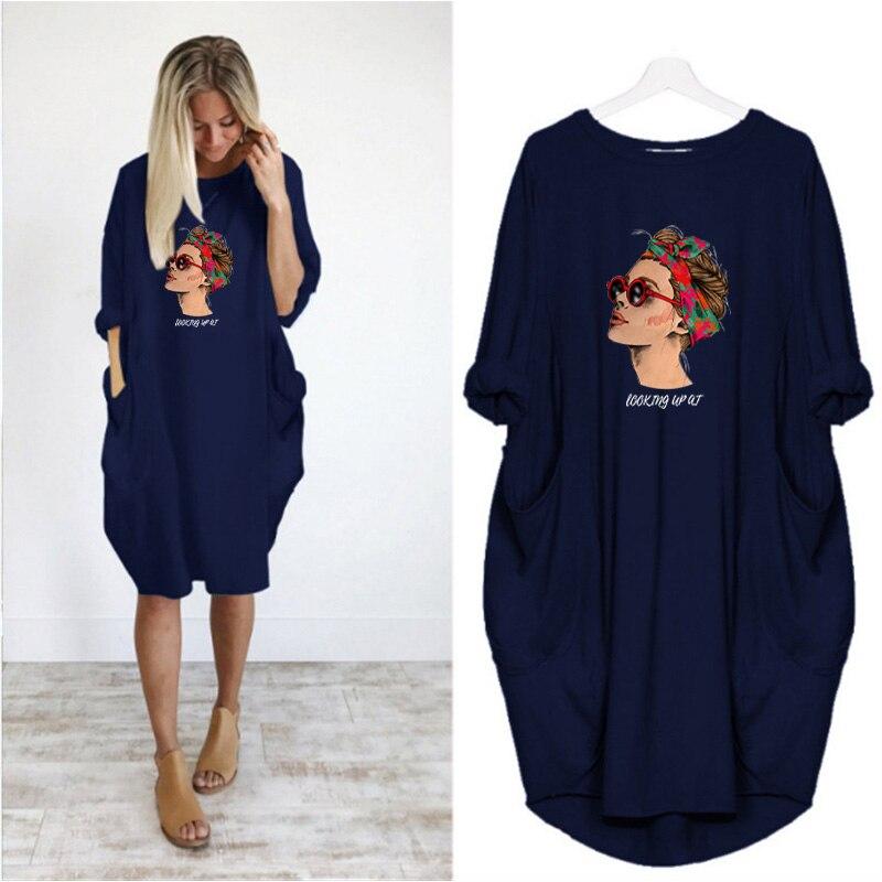 Купить женское платье миди размера плюс осеннее с длинным рукавом и